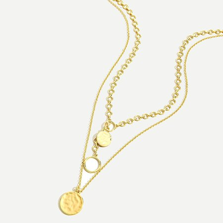 J.Crew: Layered Gold Coin Necklace For Women