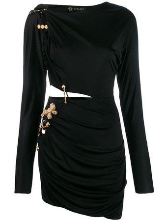 Versace Brooch Pin Detail Dress