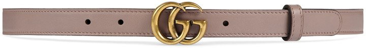 Double-G Buckle Calfskin Belt