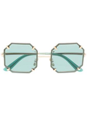 Dolce & Gabbana Eyewear Square-Frame Sunglasses DG2216 Green | Farfetch