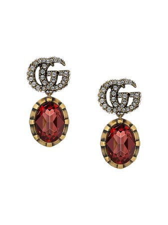Gucci GG Crystal Drop Earrings - Farfetch