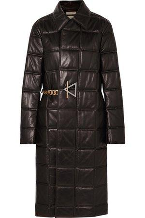 Bottega Veneta | Manteau en cuir matelassé à chaînes | NET-A-PORTER.COM