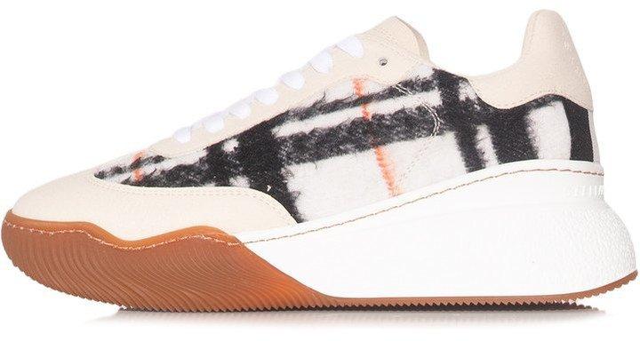 Runner Loop Sneaker in Multi White