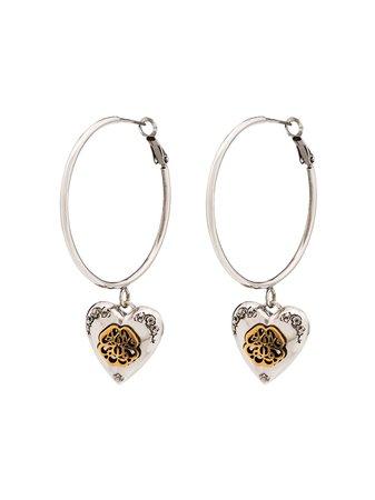 Alexander McQueen Heart Locket Hoop Earrings - Farfetch
