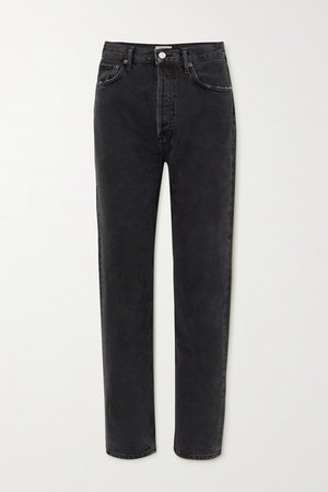 Net Sustain '90s Organic High-rise Straight-leg Jeans - Black