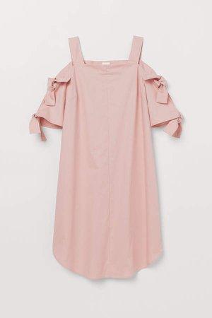 Open-shoulder Dress - Pink