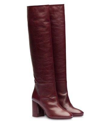Miu Miu pull-on Knee Length 85mm Boots - Farfetch