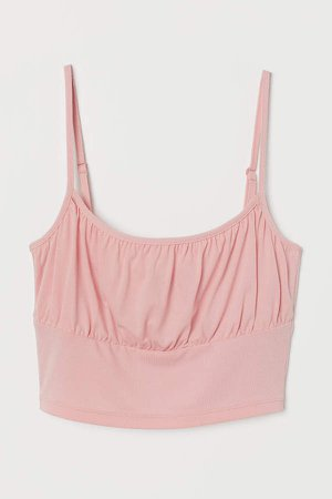 Cropped Camisole Top - Pink