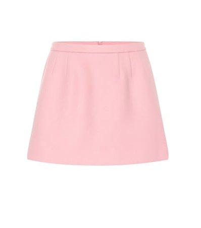 Wool and cashmere-blend miniskirt