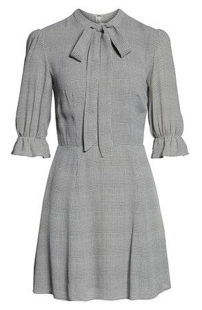 Reformation Cassie Tie Neck Minidress | Nordstrom
