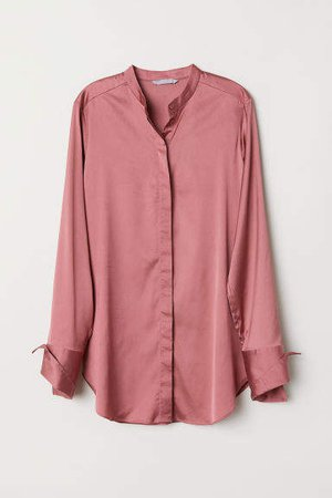 Satin Blouse - Red