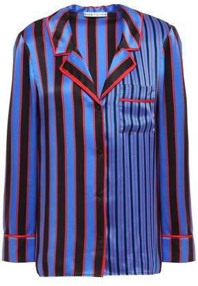 Striped Silk-satin Shirt