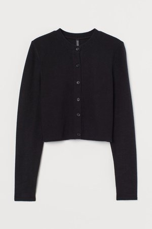 Short Cardigan - Black - Ladies | H&M US