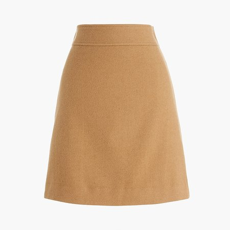 Factory: Wool-blend A-line Skirt