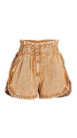 Sea Idun Denim Ruffle Shorts | SHOPBOP
