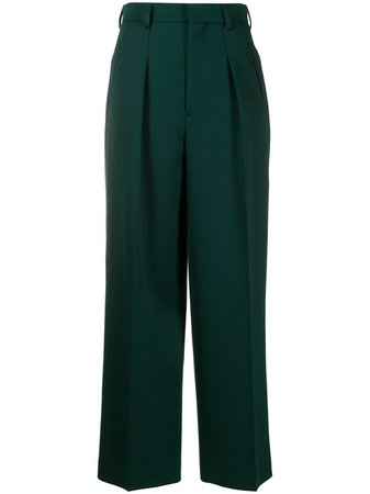 Shop AMI Paris straight-leg tailored trousers with Express Delivery - FARFETCH