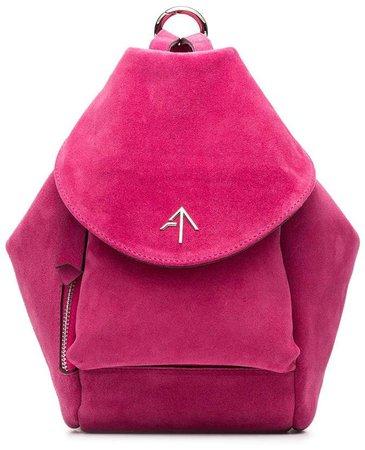 Manu fuchsia Fernweh Mini suede backpack