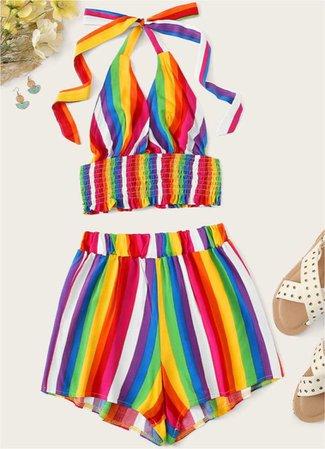 SHEIN rainbow set
