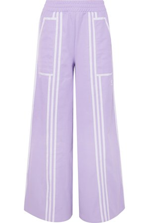 adidas Originals | + Ji Won Choi striped cotton-blend jersey wide-leg track pants | NET-A-PORTER.COM