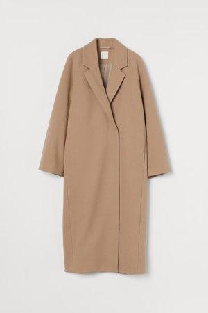 Calf-length Coat - Beige - Ladies | H&M US