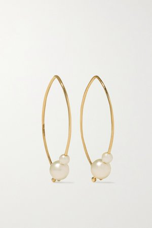 Gold Small 14-karat gold pearl earrings | Mizuki | NET-A-PORTER