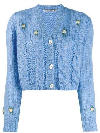 Alessandra Rich Chunky Knit Cropped Cardigan - Farfetch