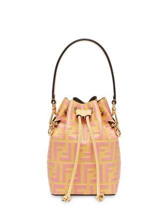 pink Fendi mini Mon Tresor bucket bag