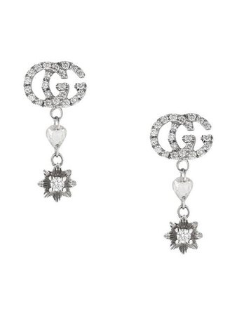 Gucci Flower and Double G earrings with diamonds $2,900 - Buy Online AW19 - Quick Shipping, Price
