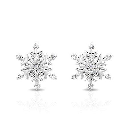 Disney Elsa Inspired Snowflake Diamond Earrings 1/10 CTTW | Enchanted Disney Fine Jewelry – Enchanted Disney Fine Jewelry UK