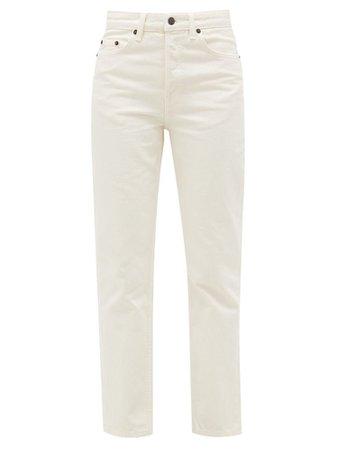 Ash high-rise cotton straight-leg jeans | The Row