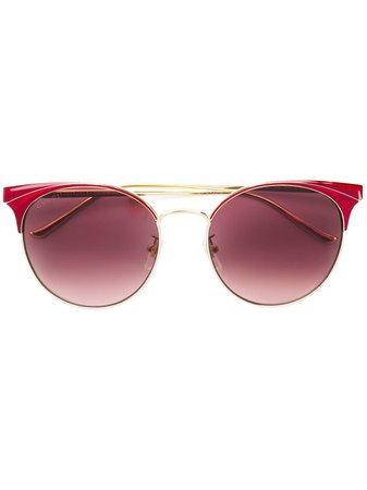 Gucci Eyewear Round Frame Sunglasses - Farfetch