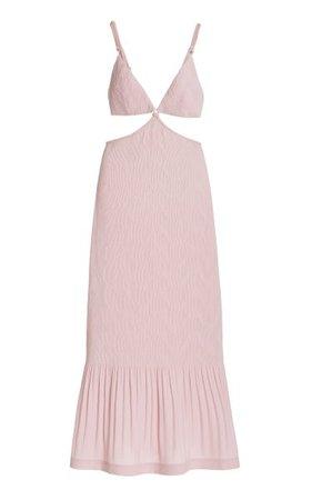 Savina Cutout Plisse Maxi Dress By Jonathan Simkhai | Moda Operandi