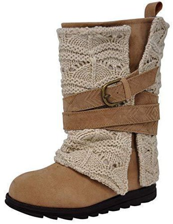 MUK LUKS Women's Nikki Grey Fashion Boot 8 M US, Ivory/Tan 696542035275 | eBay