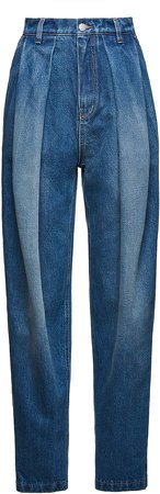 Magda Butrym Pleated High-Rise Jeans