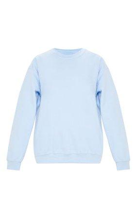 Light Blue Ultimate Oversized Sweater | PrettyLittleThing
