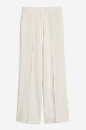 Cream High Waist Wide Leg Trousers | Topshop