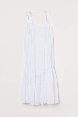 Lyocell-blend Dress - White