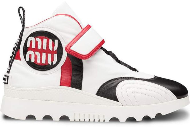 touch-strap hi-top sneakers