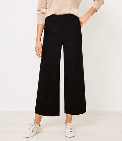 Petite Wide Leg Crop Pants
