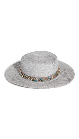 Lele Sadoughi Wheat Straw Hat in Cloudy Sky | SHOPBOP
