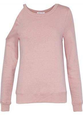 Cutout Cotton-blend Sweatshirt