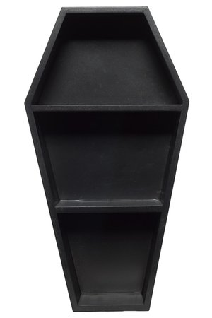 Coffin Black Wall Shelf by Sourpuss | Gifts & ware | Decor