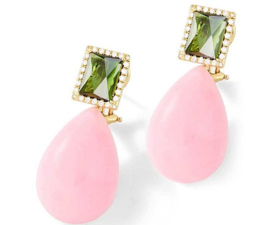 Alison Lou Tourmaline & Opal Earrings