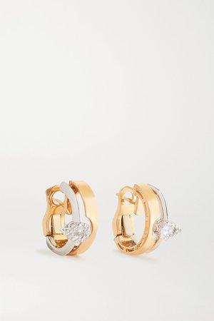 Rose gold 18-karat white and rose gold diamond earrings | YEPREM | NET-A-PORTER