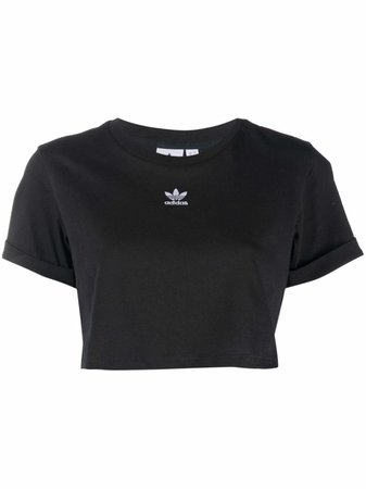 Shop adidas logo-print T-shirt with Express Delivery - FARFETCH