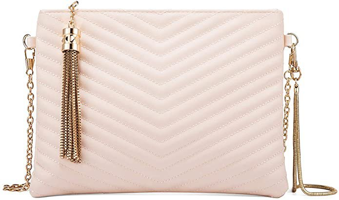 Women Clutch Purse Crossbody Evening Bags with Faux Leather Chain Wristlet Strap (Black): Handbags: Amazon.com