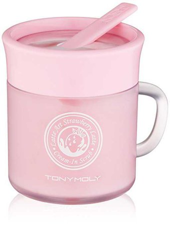 TONYMOLY Latte Art Strawberry Scrub, 2 oz: Luxury Beauty