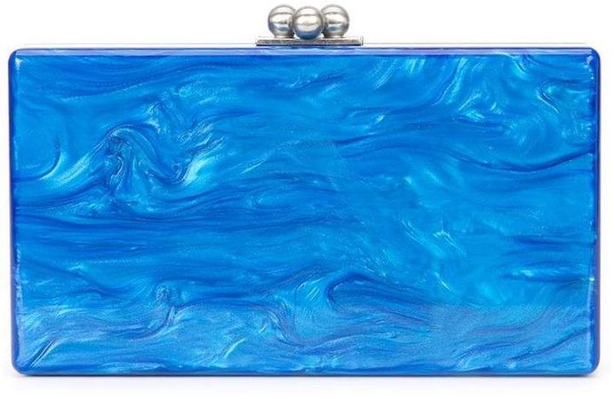 marbled effect clutch