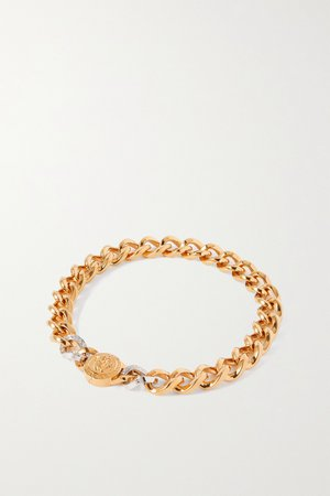 Gold Medusa gold and silver-tone necklace | Versace | NET-A-PORTER