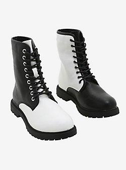 Alice In Wonderland Combat Boots